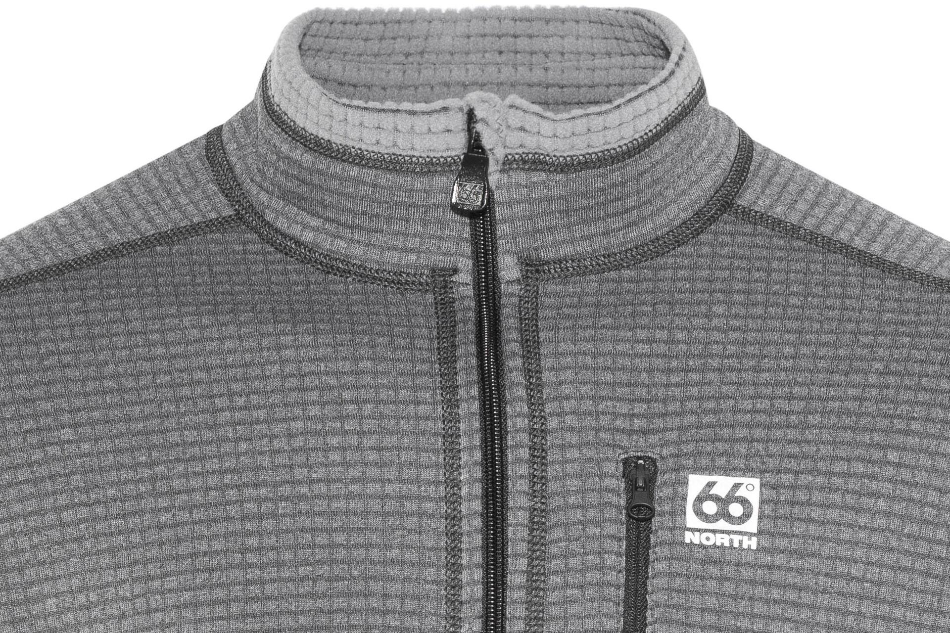 66° North Grettir Zipped Jacket Men lavic greyblack